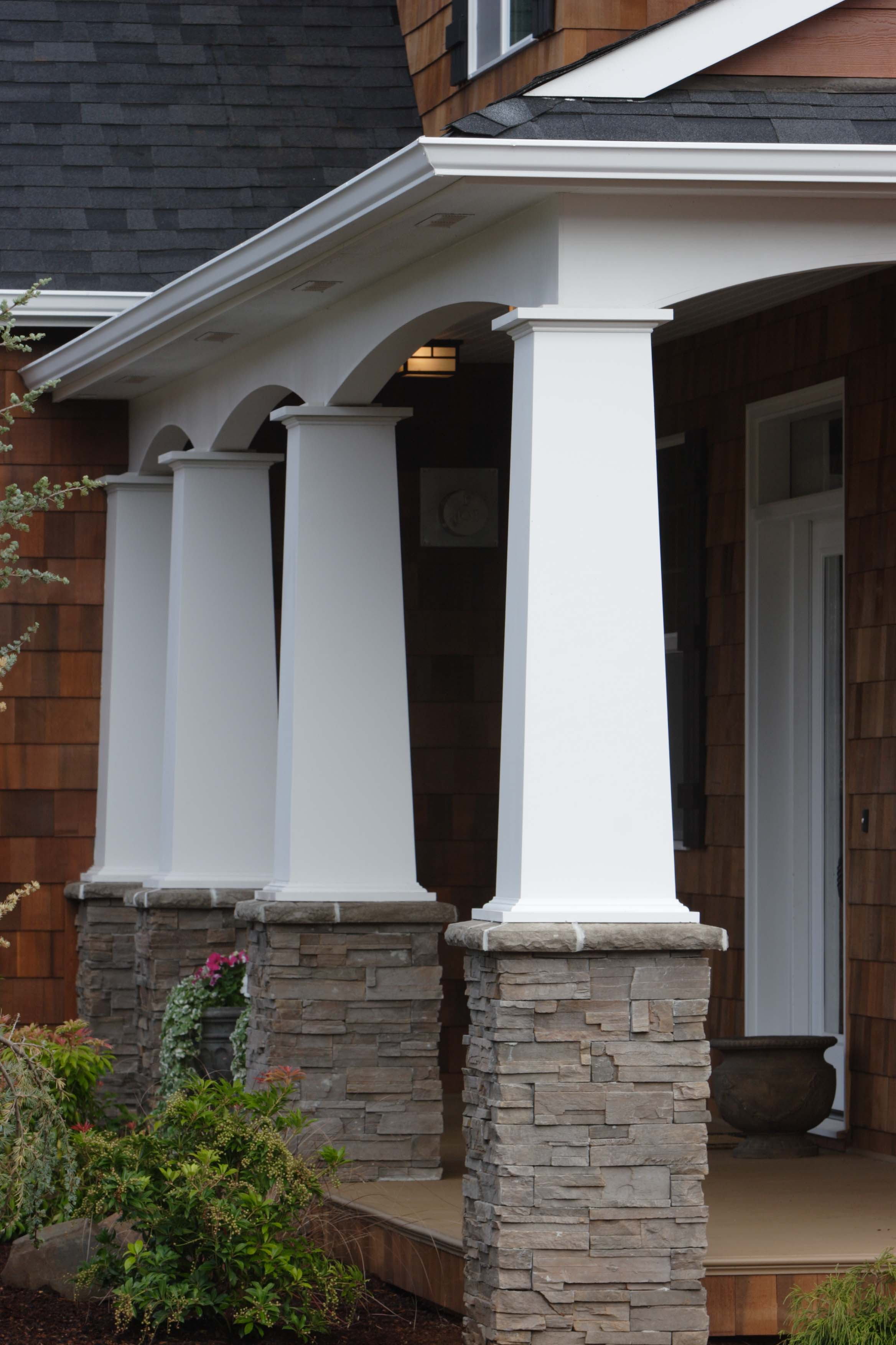 porch fiberglass accents round toronto and installation replacement columns decorative products column