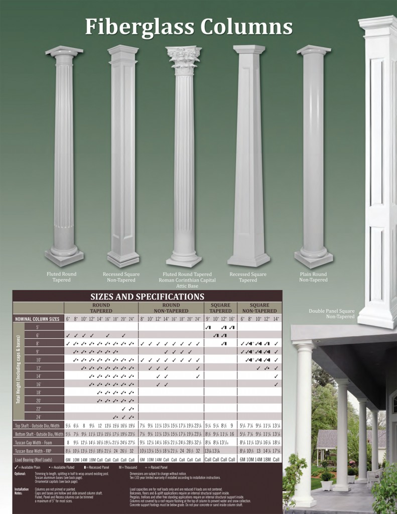 Fiberglass Column Wraps : Catalog colonial pillarscolonial pillars