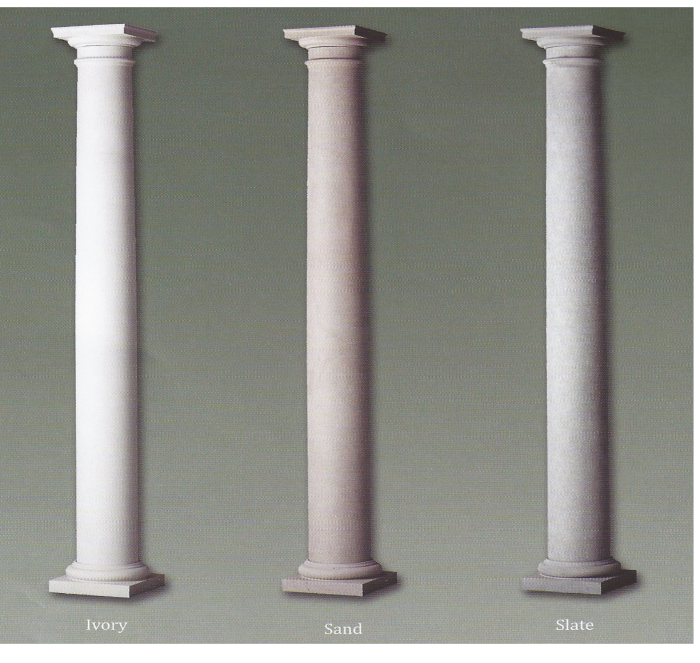 Products colonial pillarscolonial pillars for Decorative fiberglass columns