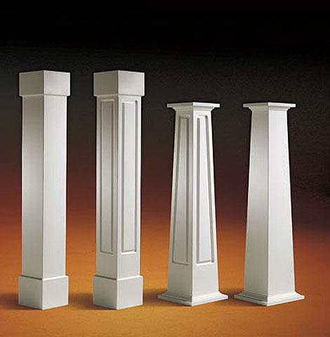 Pvc pillars