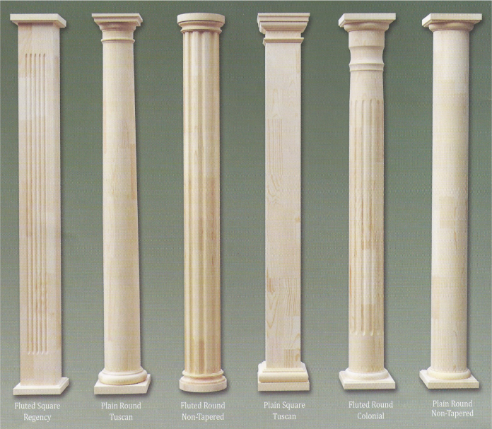 Colonial pillars curb appeal that counts for Fiberglass interior columns