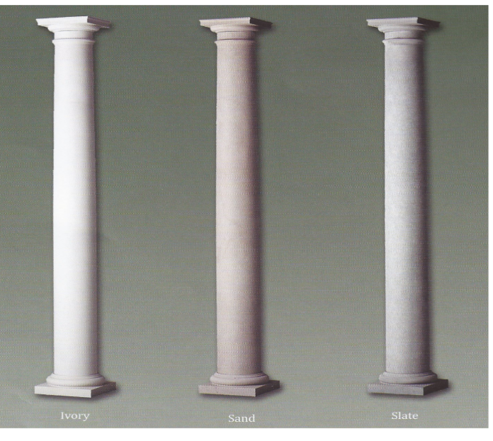 Colonial pillars curb appeal that counts for Architectural wood columns
